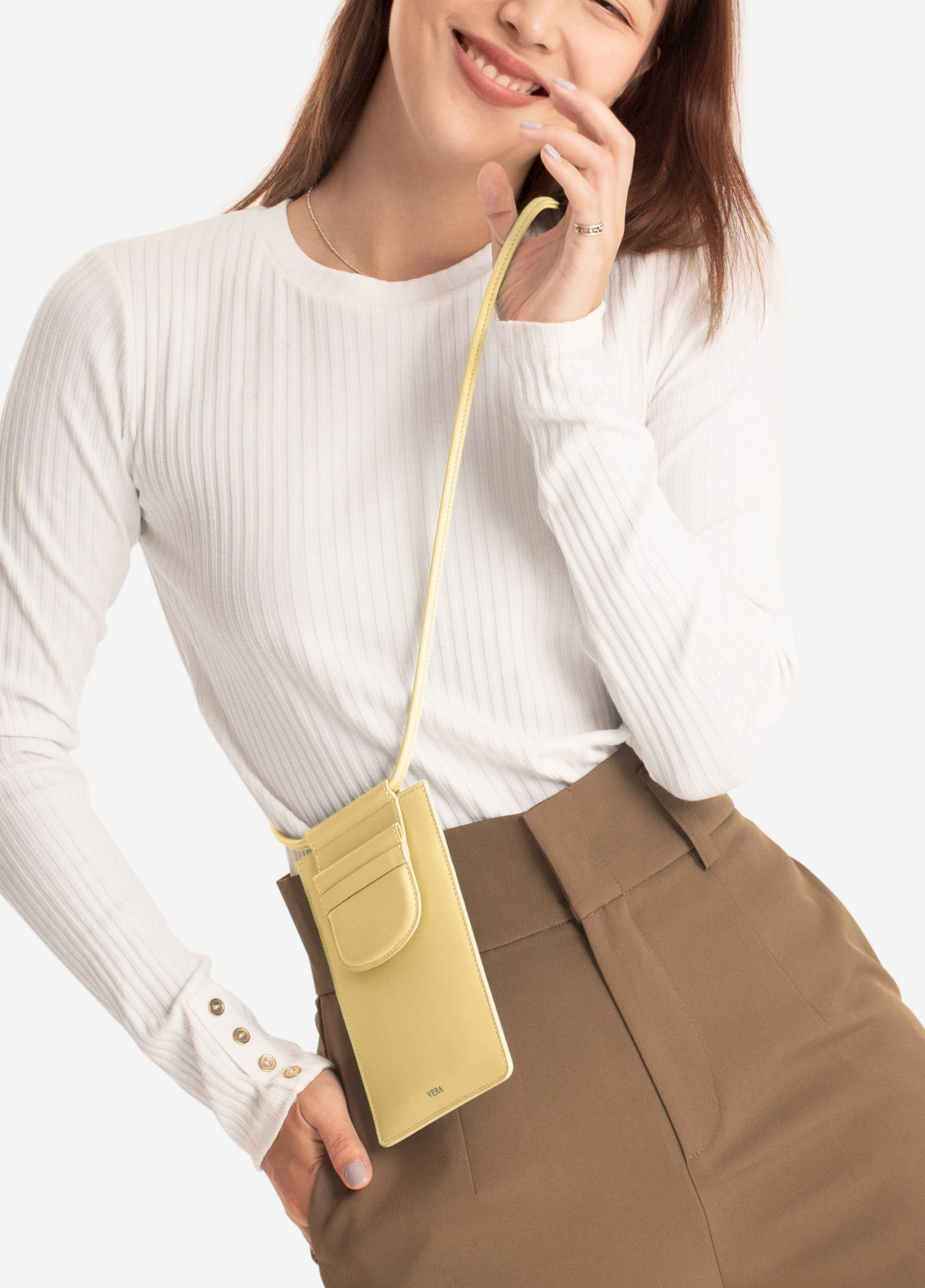 กระเป๋า NEW! VERA BEST MILLIE POUCH IN LEMON