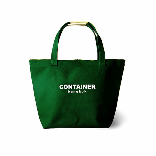 Summer Canvas Tote Dark Green (water resistant)